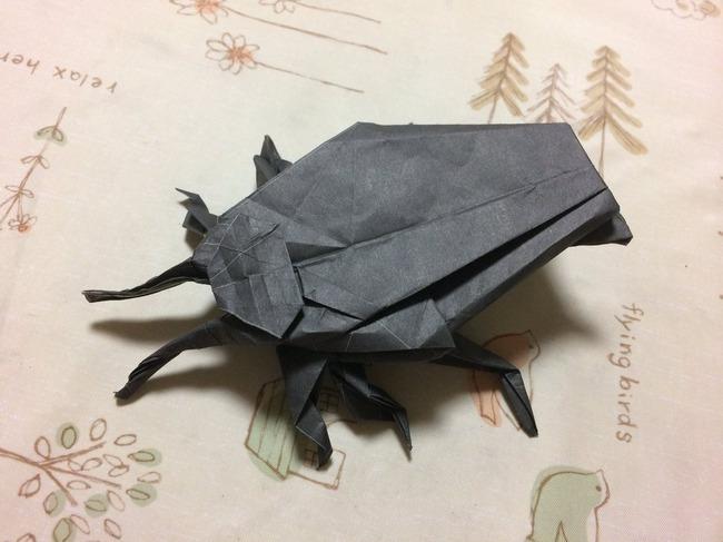 キンチョール 新聞広告 折り紙 ゴキブリに関連した画像-03