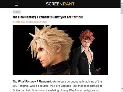 FF7 ファイナルファンタジー7 リメイク 髪型に関連した画像-02