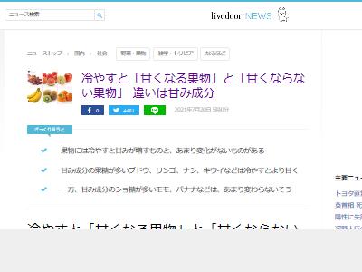 果物 甘み 成分 ブドウ リンゴ ナシ キウイ モモ バナナに関連した画像-02