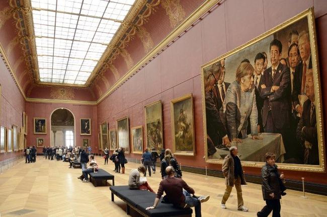 G7サミット 先進国首脳会議 写真 安倍総理 トランプ大統領 メルケル首相 ルネサンス絵画 偶発的ルネサンスに関連した画像-04
