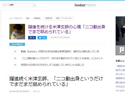ニコニコ動画 ニコ動 米津玄師 アーティスト 舐められるに関連した画像-02
