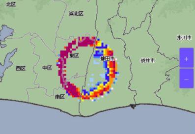 浜松 雨雲 ブライトバンド 気象庁に関連した画像-01