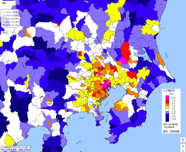 人口 密度 増加率 マップ 地図 過疎に関連した画像-06