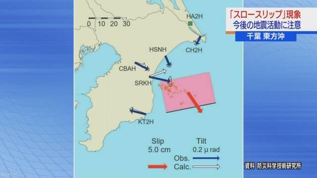 千葉県 プレート 移動 スロースリップ現象 地震に関連した画像-01