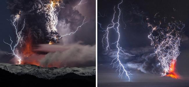 写真 神々しい 火山噴火 稲妻 火山雷に関連した画像-06