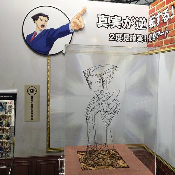逆転裁判 名探偵コナン 江戸川コナン 成歩堂龍一 変身アート アニメジャパン 逆転に関連した画像-04