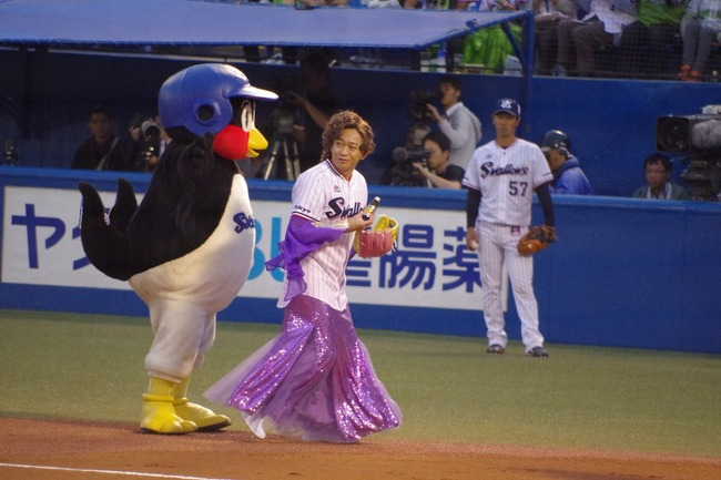 TOKIO 城島茂 島茂子 始球式に関連した画像-06