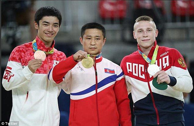北朝鮮 オリンピック リオ五輪 金メダル 笑顔に関連した画像-05