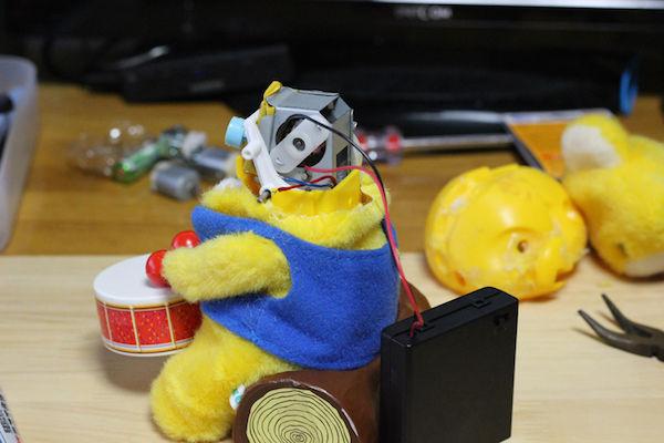太鼓 クマのおもちゃ 改造 高速 モーターに関連した画像-06