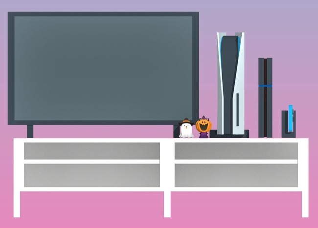 PS5 大きさ 比較 リビング テレビに関連した画像-06