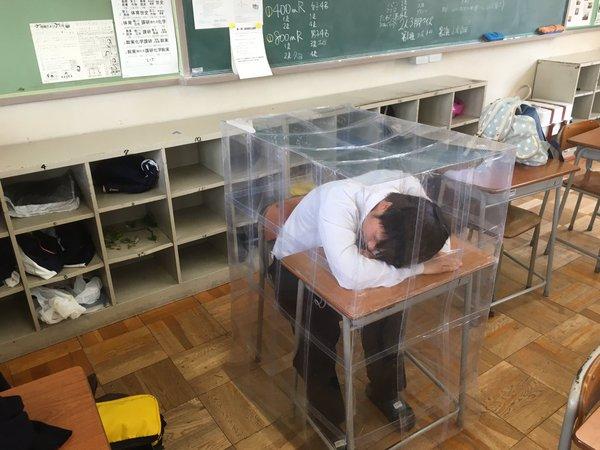 バリア 下敷き 教室 学校 高校生に関連した画像-03