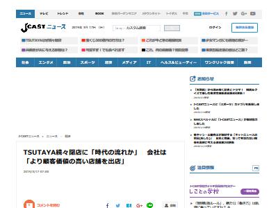 TSUTAYA 閉店 続出に関連した画像-02