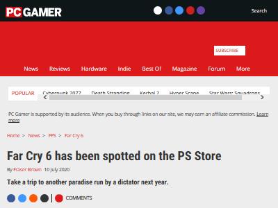 ファークライ6 リーク 動画 PSN Ubisoftに関連した画像-02