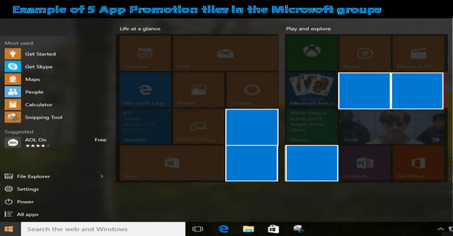 Windows10 広告 スタートメニュー アップデートに関連した画像-03