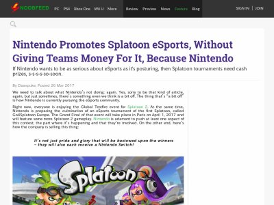スプラトゥーン ニンテンドースイッチ 大会 eSportsに関連した画像-02