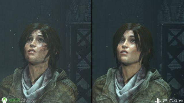 PS4Pro XboxOneX グラフィック 比較 ライズオブトゥームレイダー ハードに関連した画像-01