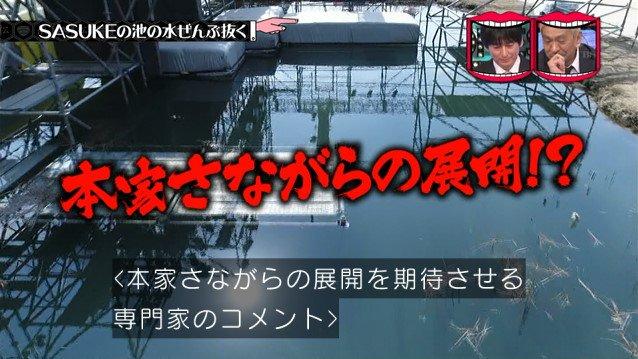 SASUKE サスケ 池の水 水曜日のダウンタウンに関連した画像-07
