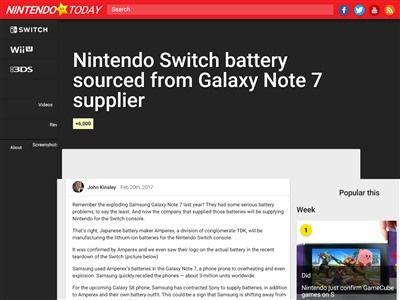 ニンテンドースイッチ サムスン バッテリーに関連した画像-02