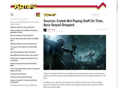 Crytek社 Ryse2 キャンセルに関連した画像-02