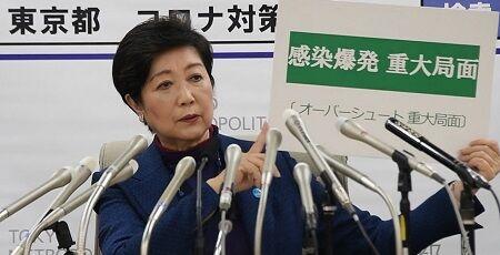 """【神頼み】東京都、本日の感染者数""""97人""""→小池都知事「これが最大であることを願っています」"""