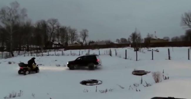 ドリフト ロシア 凍った池 自業自得に関連した画像-01