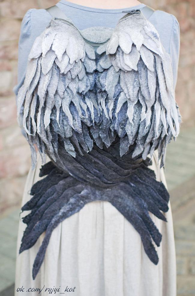 羽 バックパック 鳥の羽 リュックサック 鞄に関連した画像-04