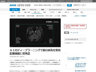 AI ディープラーニング 脳 病気 医療機器に関連した画像-02
