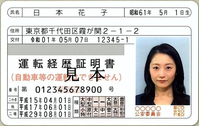 日本花子 運転免許 警察に関連した画像-01