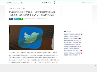 ツイッターフェイクニュース指摘悪化に関連した画像-02