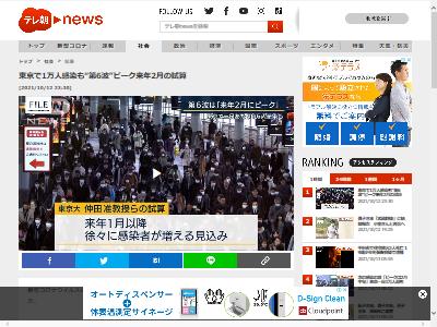 第6波 試算 東京大学 新型コロナ ピーク 感染に関連した画像-02