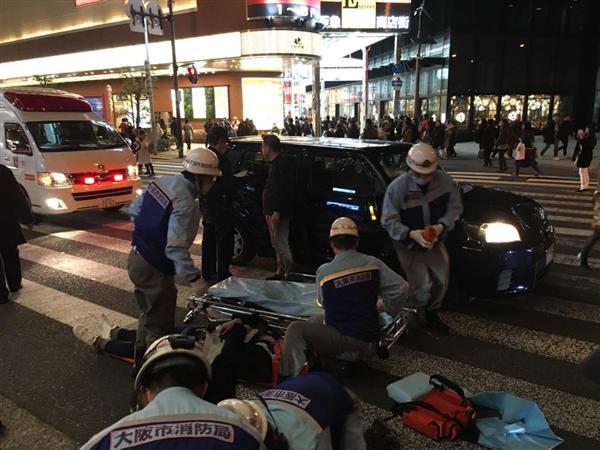 大阪 梅田 車 暴走に関連した画像-04