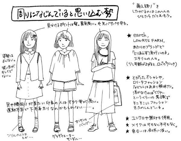 オタク女子 オタク ファッション 図解 一般人 擬態に関連した画像-02