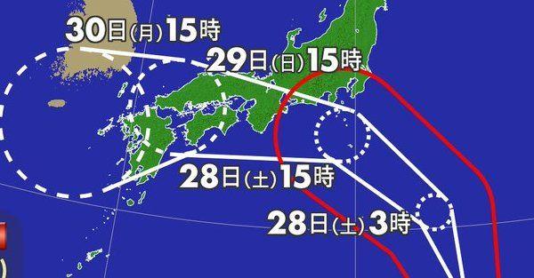 台風12号 逆走 西日本に関連した画像-01