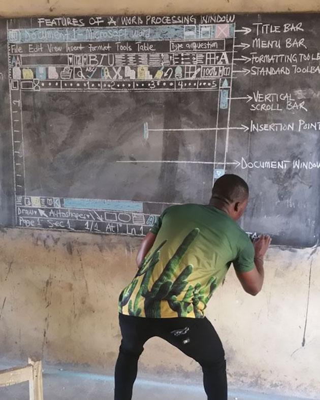 アフリカ 小学校 IT 授業 ガーナ に関連した画像-05