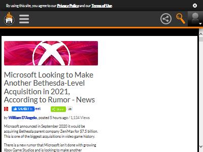 ゲーム業界 マイクロソフト ベセスダ 買収 大規模 噂に関連した画像-02