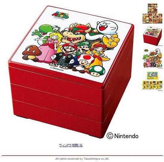 スーパーマリオ おせち コラボ 正月 高島屋 デパート 重箱 カードに関連した画像-03