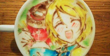ラブライブ! 小泉花陽 ラテアート お米に関連した画像-01