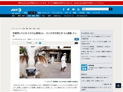 牛 豚 インド イスラム教 ヒンズー教 ヒンドゥー教 殺人事件 逮捕に関連した画像-02