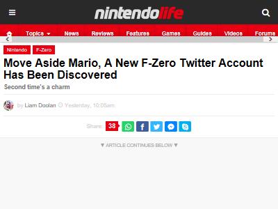 F-Zero 任天堂 ツイッター アカウント 見つかるに関連した画像-02
