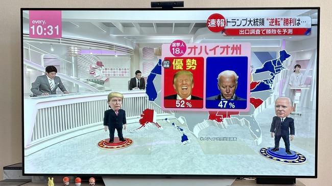 日本 アメリカ 大統領選挙 選挙特番 CG デフォルメ 好評に関連した画像-02