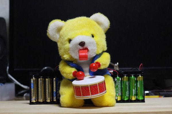 太鼓 クマのおもちゃ 改造 高速 モーターに関連した画像-07