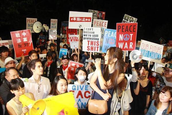 SEALDs デモ 日の丸に関連した画像-02