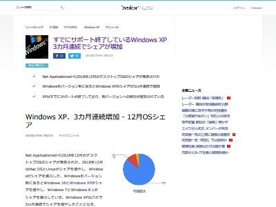 WindowsXP シェア 3ヶ月連続増加に関連した画像-02