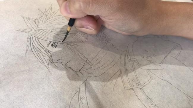 日本画家 日月美輪 FF7 クラウド ファイナルファンタジー 描いてみたに関連した画像-02