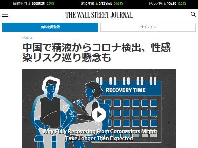 新型コロナウイルス 精液 中国 研究に関連した画像-02