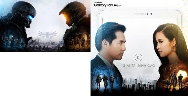 サムスン 宣伝 広告 Halo5 パクリ 盗用 比較 画像に関連した画像-03