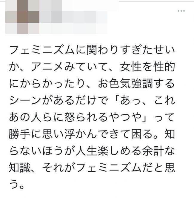 フェミニスト フェミニズム アニメ オタク 思想 嫌悪感に関連した画像-03