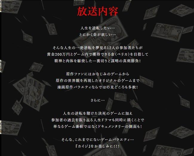 TBS バラエティ 特番 カイジ 出場者 債務者 リアルカイジ 借金 賞金 こりゃめでてーなに関連した画像-04