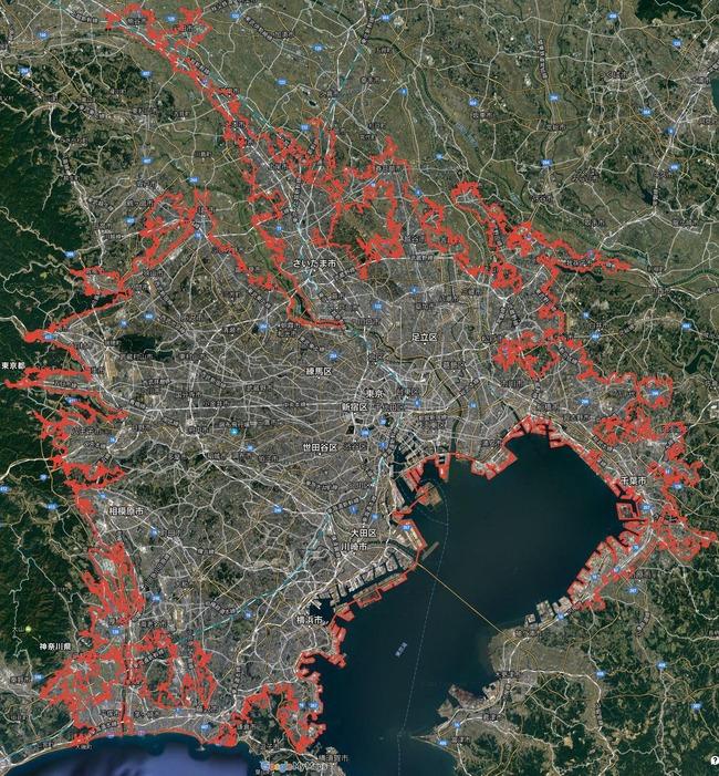 地図 東京 町 街に関連した画像-02