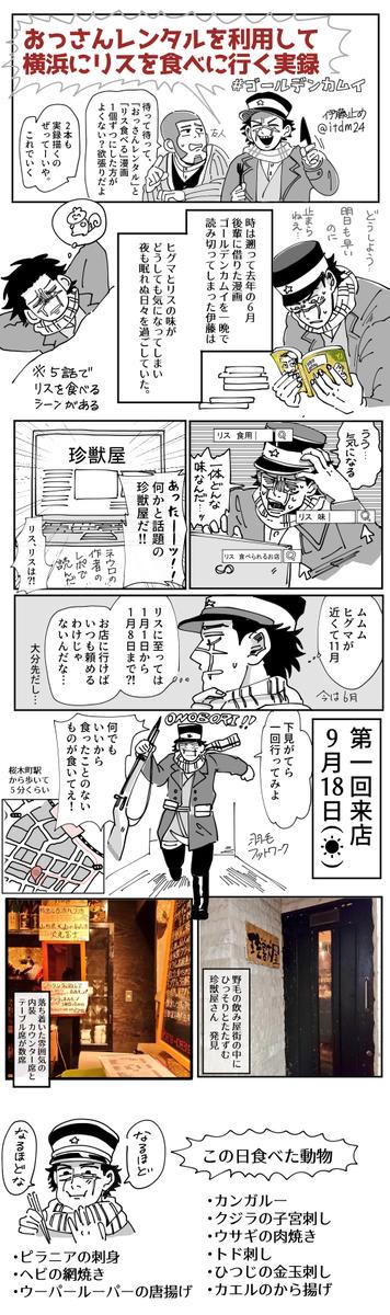 ゴールデンカムイ リス 珍獣屋 おっさんレンタルに関連した画像-01